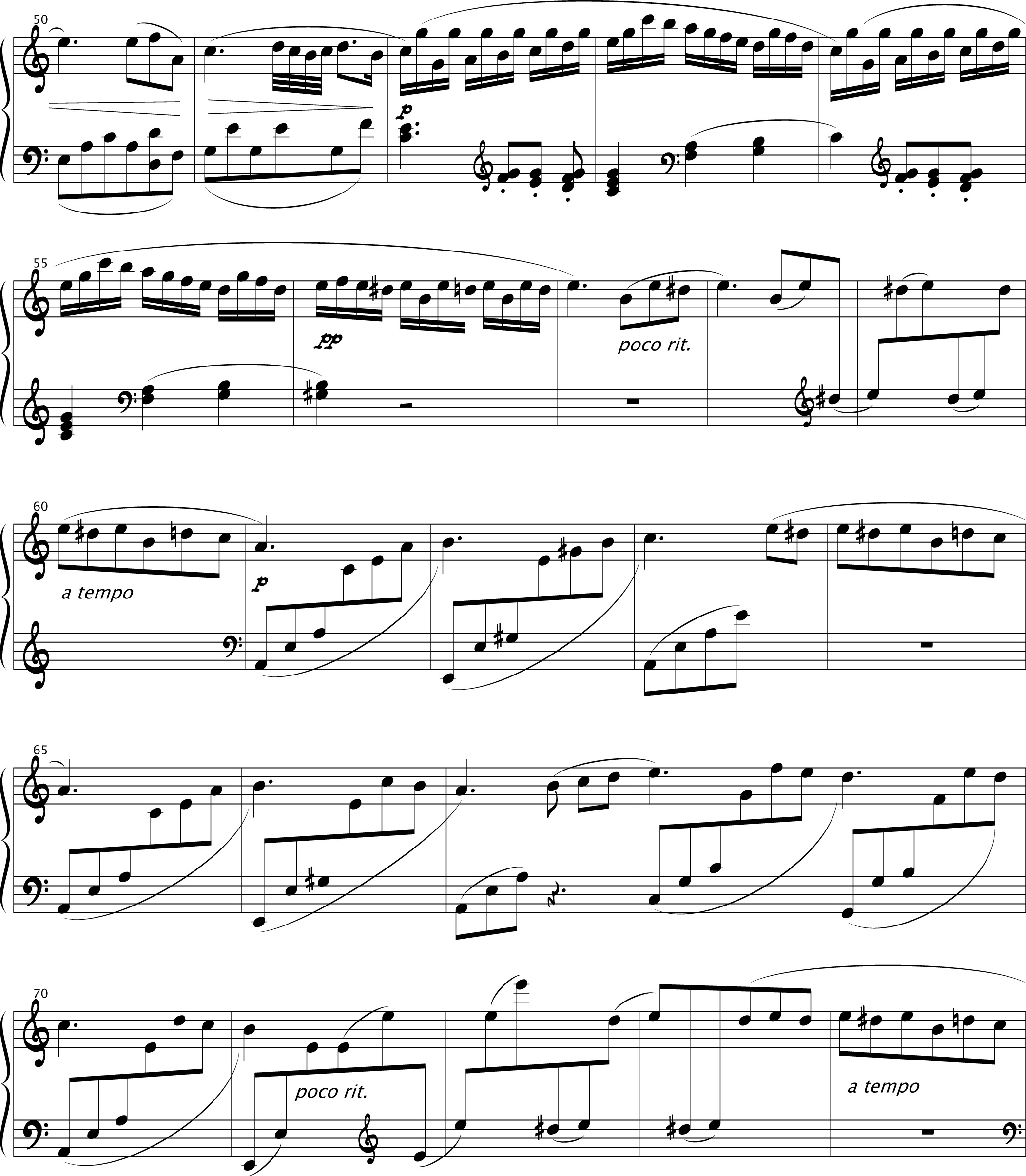 Für Elise Pure Sheet Music For Piano By