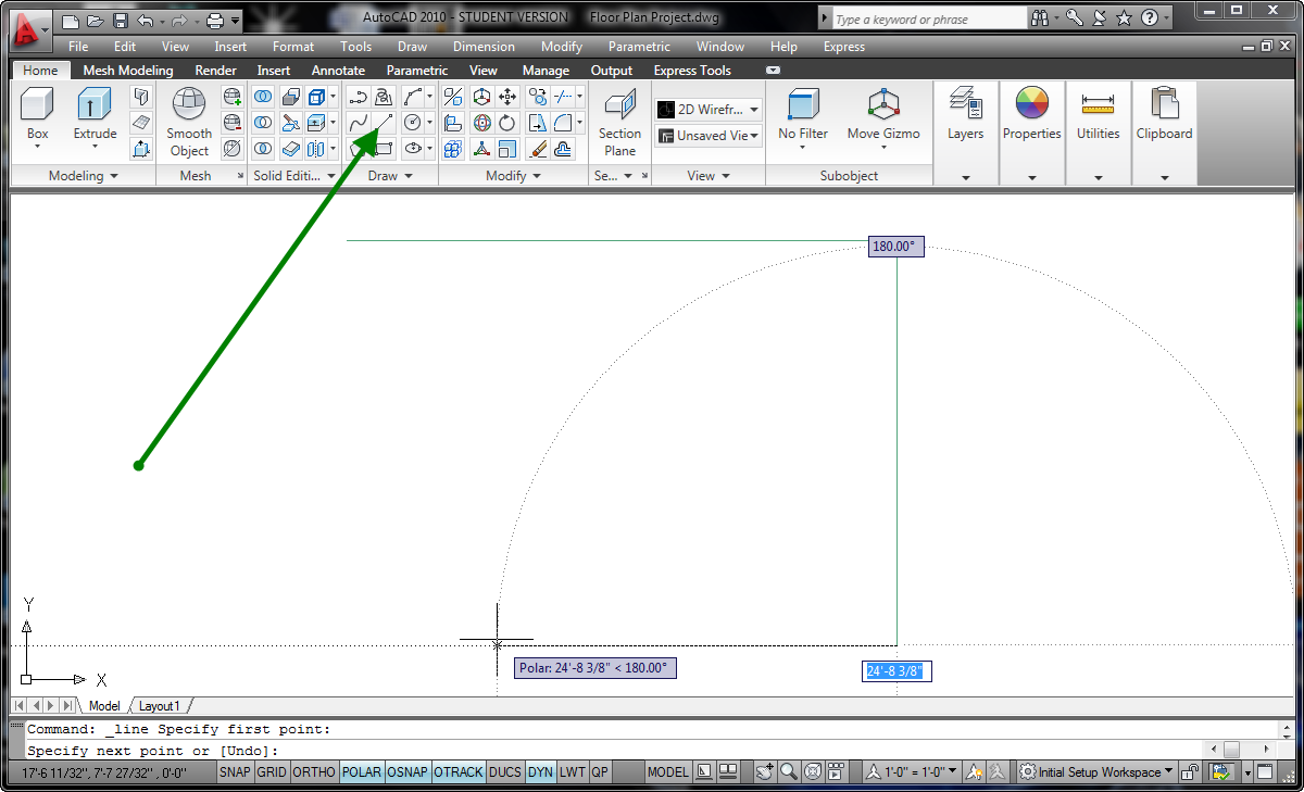 Smashwords Autocad 2010 Tutorial Series Drawing A Floor
