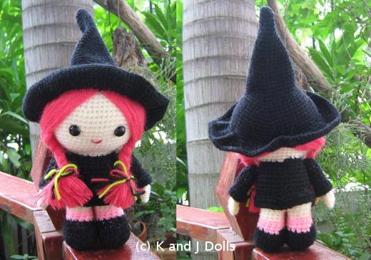Witch Hat Keychain Amigurumi Pattern - Sueños Blanditos | 365x520