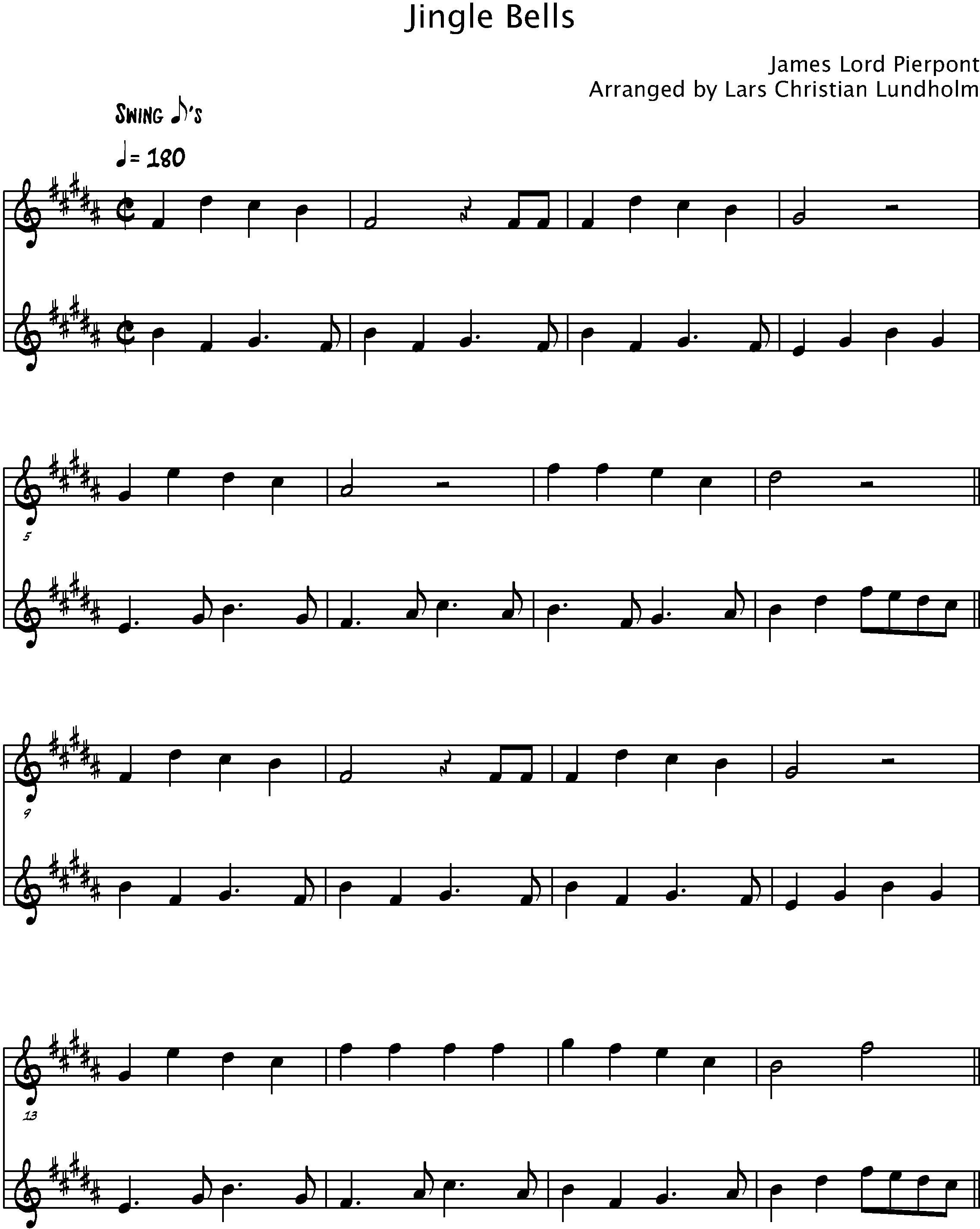 Jingle Bells Sheet Music Alto Saxophone Ibovnathandedecker