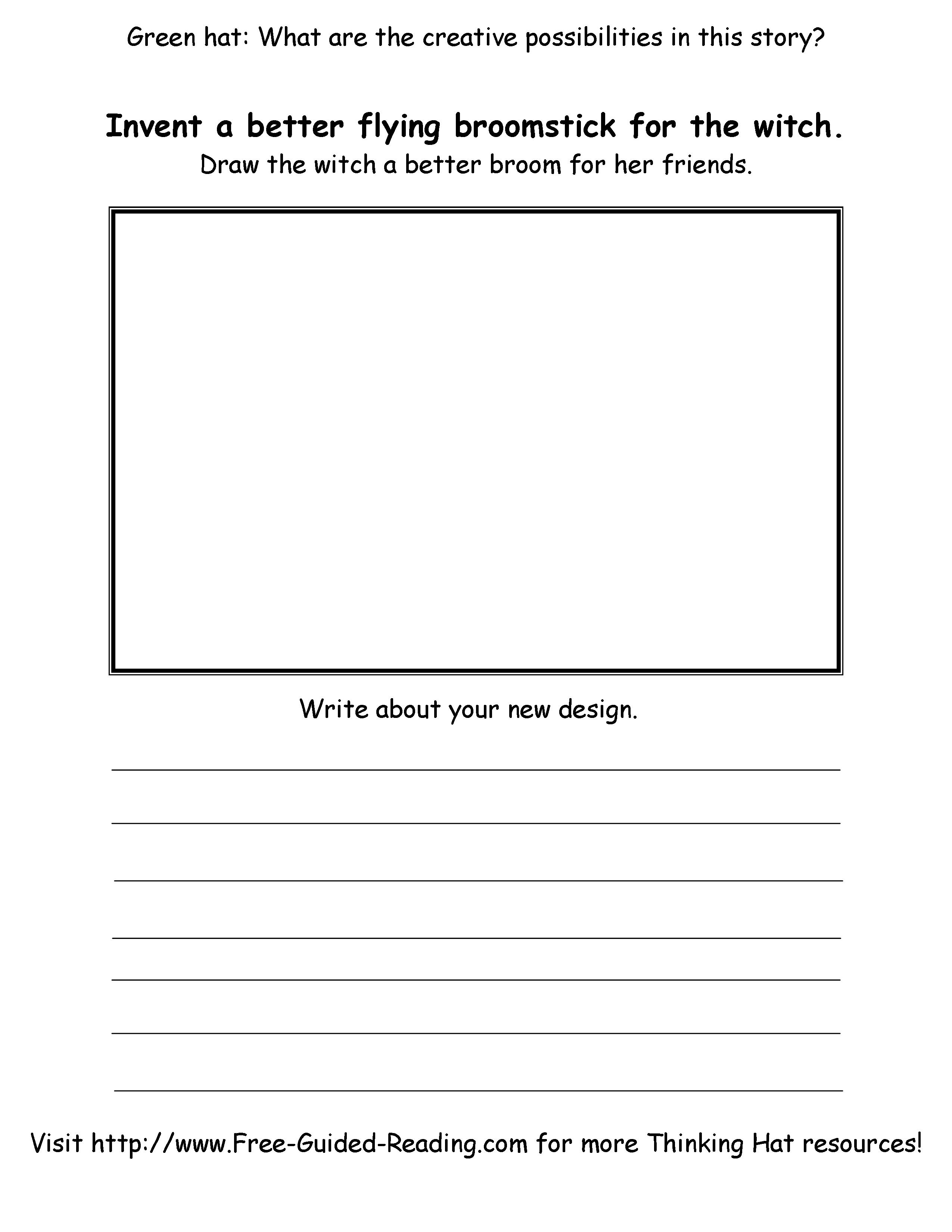 Smashwords Room On The Broom 16 Thinking Hat Worksheets A Book By Peter Fogarty Page 1