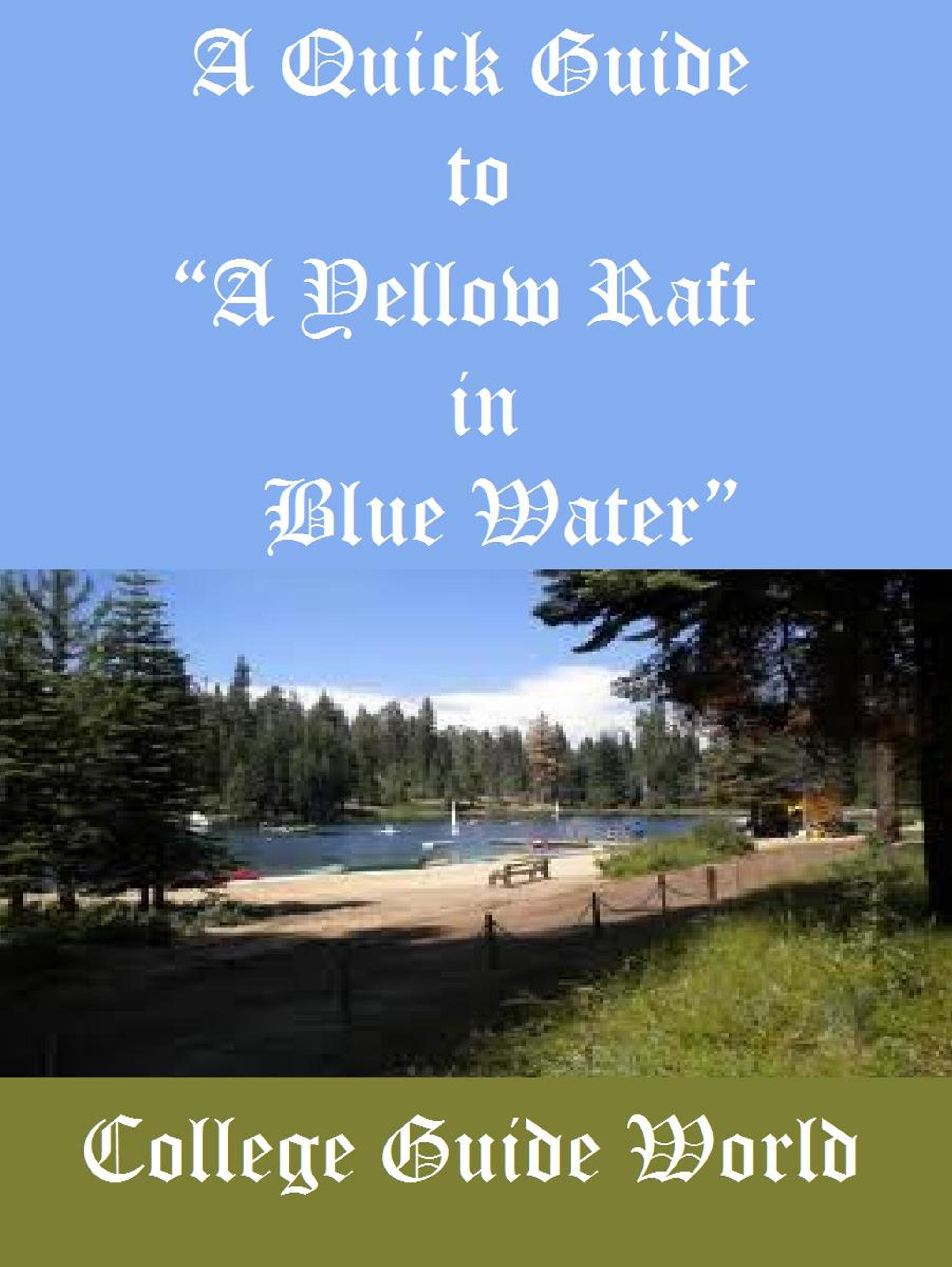 michael dorris s a yellow raft in Michael dorris writing styles in a yellow raft in blue water michael dorris this study guide consists of approximately 62 pages of chapter summaries, quotes, character analysis, themes, and more - everything you need to sharpen your knowledge of a yellow raft in blue water.