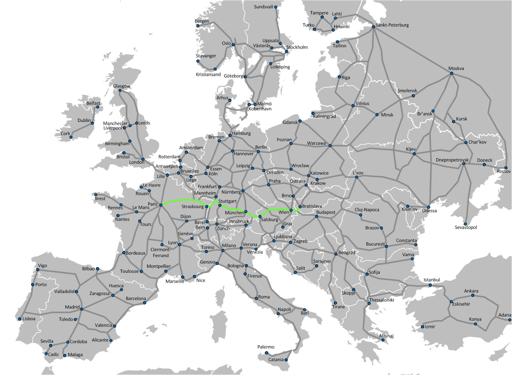 Smashwords The Ultimate Europe Train Travel Guide A book by J – Train Travel In Europe Map