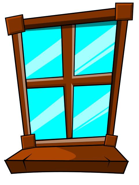 Окно в картинках для детей, днем