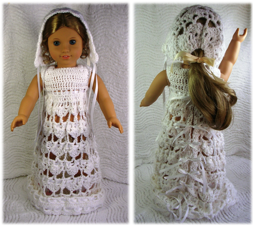 Smashwords 011 Lizzys Wedding Dress Ensemble Crochet Pattern For American Girl And 18 Inch Dolls
